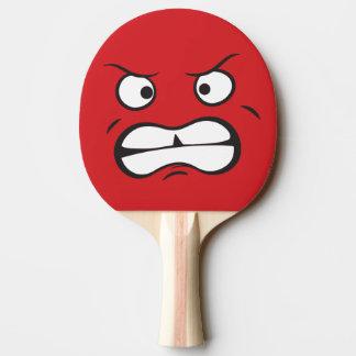 Intenso asustadizo agresivo pala de ping pong