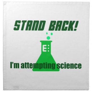 Intentar ciencia servilleta