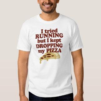 Intenté correr pero guardé el caer de mi pizza playera