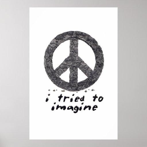 intenté imaginarme posters