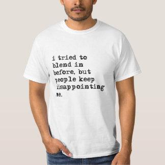 Intenté mezclar adentro antes de camiseta del remera