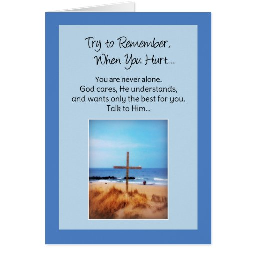 Intente recordar cuando usted daña… religioso tarjeta de felicitación