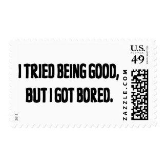 Intenté ser bueno, pero conseguí aburrido franqueo