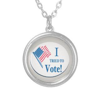 ¡Intenté votar! Colgantes
