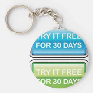 Inténtelo libremente para el botón de 30 días llavero redondo tipo pin