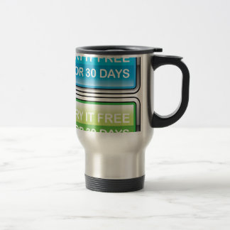 Inténtelo libremente para el botón de 30 días taza de viaje