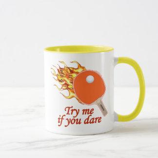 Inténteme ping-pong llameante taza