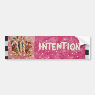 Intention Bumper Sticker