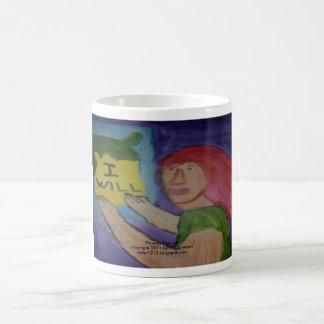 Intention half mug, coffee mug