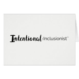 Intentional Inclusionist Thank You Card