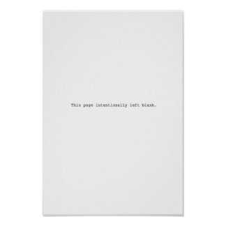 Intentionally left blank poster