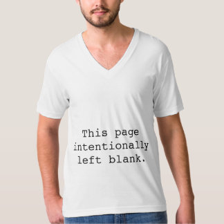 Intentionally left blank. T-Shirt