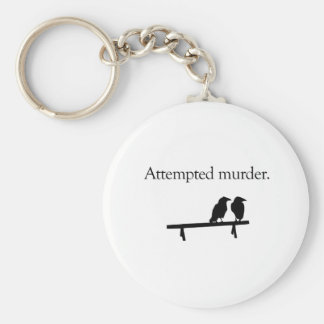 Intento de asesinato llavero redondo tipo pin