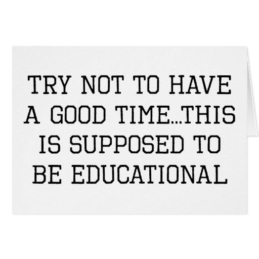 Intento no educativo felicitación