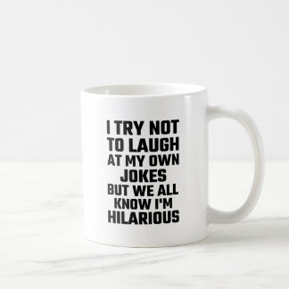 Intento no reírme de mis propios chistes pero soy taza de café