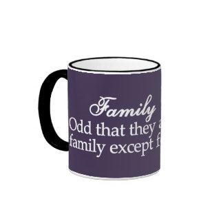 Intento que aplica valores familiares a sí mismo tazas