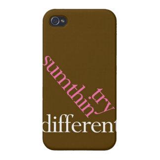 """Intento Sumthin diferente "" iPhone 4/4S Fundas"