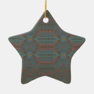 Inter Stellar Grid Ceramic Ornament