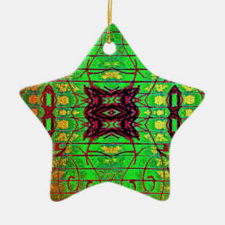 Inter Stellar Lines Ceramic Ornament