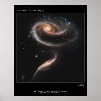 Interacting Galaxies ARP-273 Poster