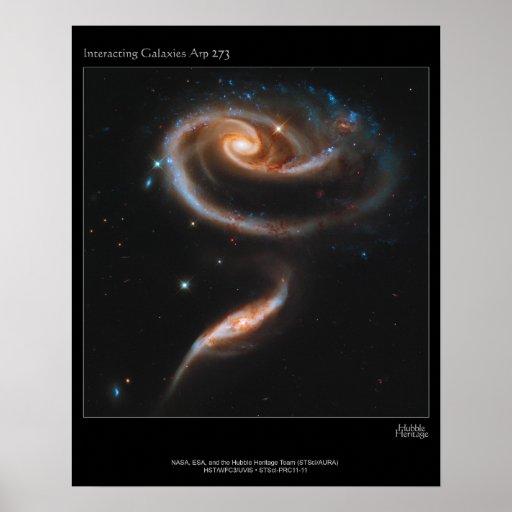 Interacting Galaxies Arp 273 UGC 1810 & 1813 Poster