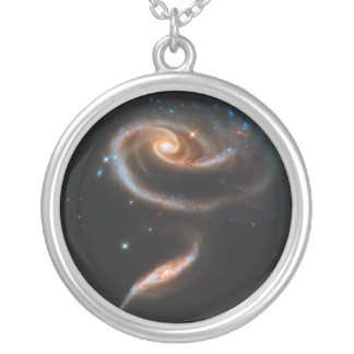 Interacting Galaxies Arp 273 UGC 1810 & 1813 Silver Plated Necklace