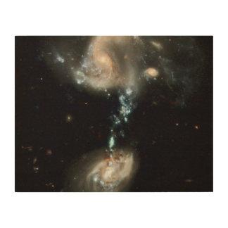 Interacting Galaxies Group Arp 194 Wood Wall Art