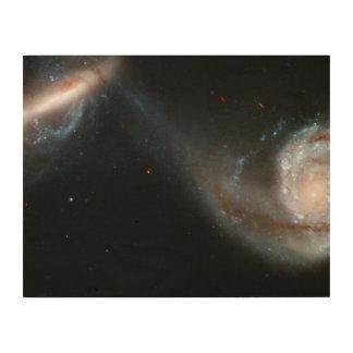 Interacting Galaxy Pair Arp 87 Wood Wall Art