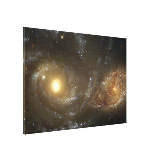 Interacting Spiral Galaxies NGC 2207 and IC 2163 Canvas Print
