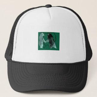 Interactive Bear - forest green bear design Trucker Hat