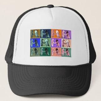 Interactive Bear multi-toned pinks & greens design Trucker Hat