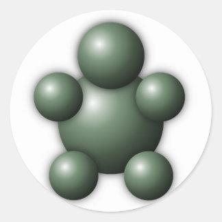 Interactive Buddy Classic Round Sticker