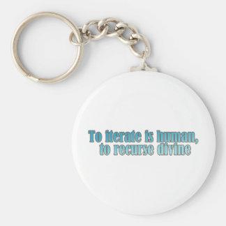 Interate Human Recurse Devine Keychain