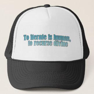 Interate Human Recurse Devine Trucker Hat