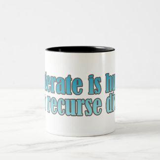 Interate Human Recurse Devine Two-Tone Coffee Mug