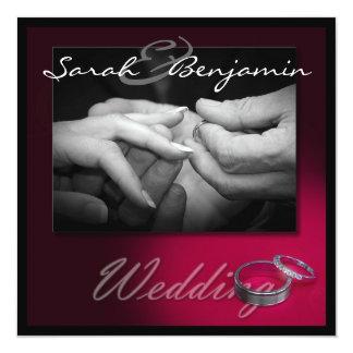 """Intercambiar los anillos por las alianzas de boda invitación 5.25"""" x 5.25"""""""