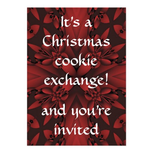 Intercambio con clase rojo y negro de la galleta d invitaciones personales