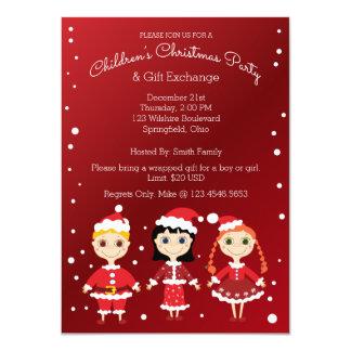 Intercambio de la fiesta de Navidad y del regalo Invitación 11,4 X 15,8 Cm