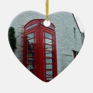 Intercambio del libro del pueblo adorno de cerámica en forma de corazón