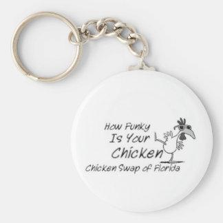Intercambio del pollo de la Florida Llavero Redondo Tipo Pin