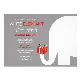 Intercambio del regalo del elefante blanco (rojo) comunicado