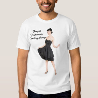 Intercambio frugal de la ropa del fashionista playera