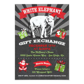 """Intercambio Inviation del regalo del elefante Invitación 5"""" X 7"""""""