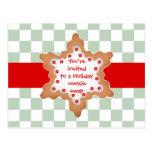 Intercambio lindo de la galleta del día de fiesta tarjeta postal