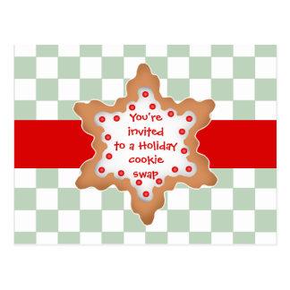 Intercambio lindo de la galleta del día de fiesta