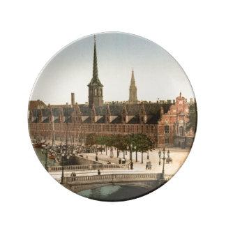 Intercambio Pasillo, Copenhague, Dinamarca Platos De Cerámica
