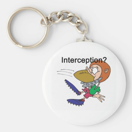 Interceptación Llavero Redondo Tipo Pin