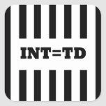 Interception  Equals Touchdown - Replacement Refs Square Sticker