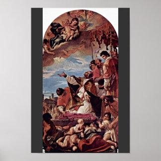 Intercesión, papa Gregory The Great (la plaga) Póster