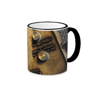 Intercomunicador del vintage/taza de radio de la f taza a dos colores